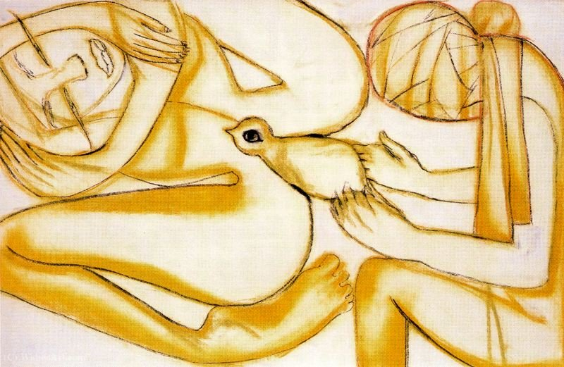 Untitled (522) by Francesco Clemente