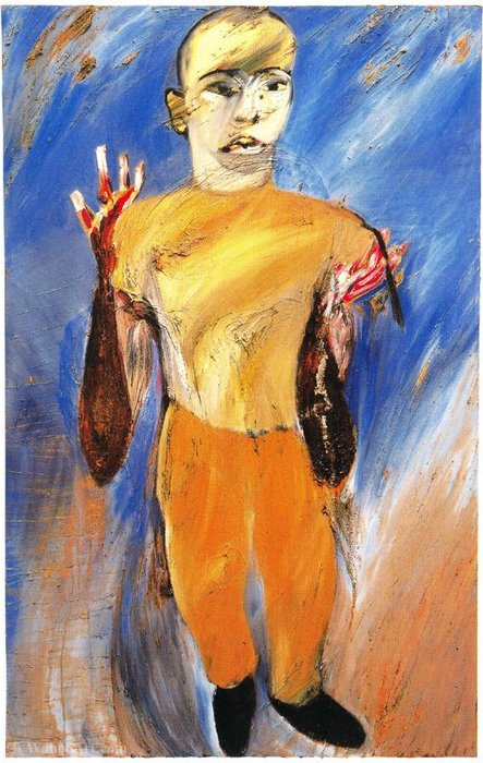 Untitled (665) by Francesco Clemente