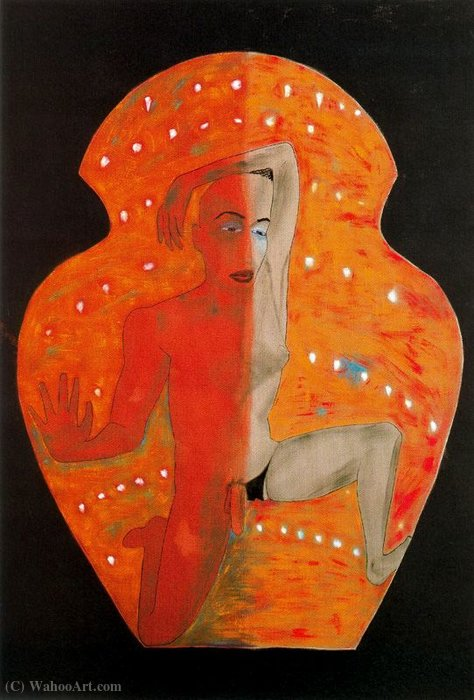 Untitled (555) by Francesco Clemente