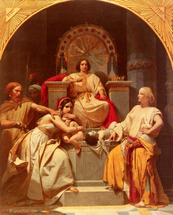 The judgement of solomon by Frederic Henri Schopin (1804-1880)