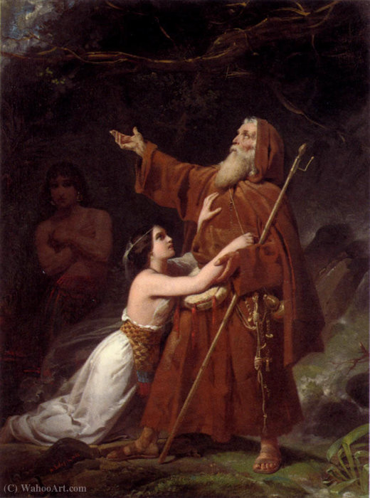 Heinrich a plea for absolution by Frederic Henri Schopin (1804-1880) | Art Reproduction | ArtsDot.com