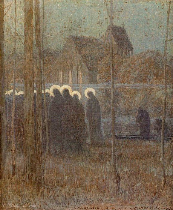 Untitled (771) by Louis Welden Hawkins (1849-1910) | Museum Quality Reproductions | ArtsDot.com