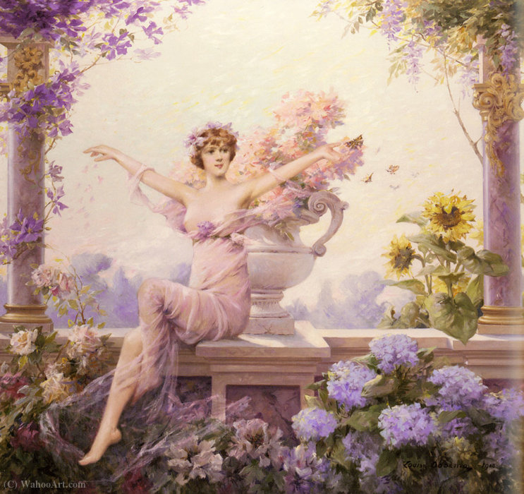 Flora by Louise Abbema (1853-1927, France) | Painting Copy | ArtsDot.com