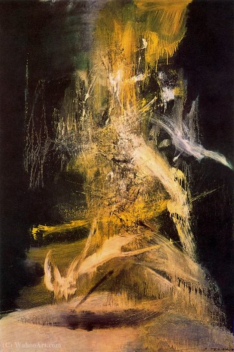 Untitled (328) by Zao Wou-Ki (1920-2013, China) |  | ArtsDot.com