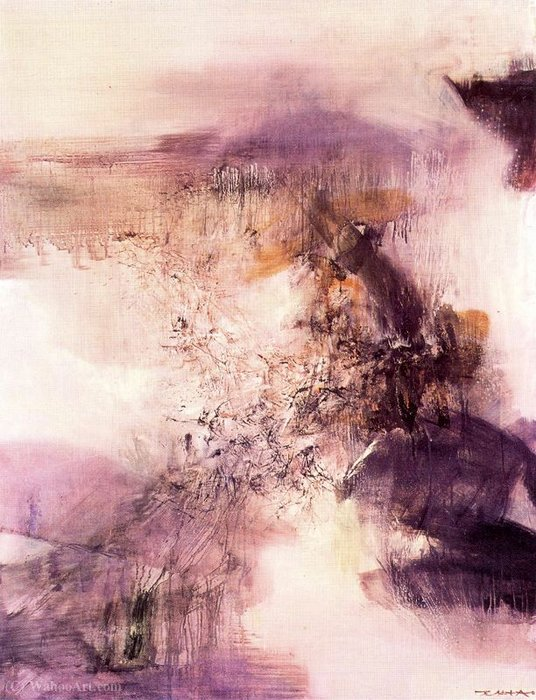 Untitled (276) by Zao Wou-Ki (1920-2013, China) |  | ArtsDot.com