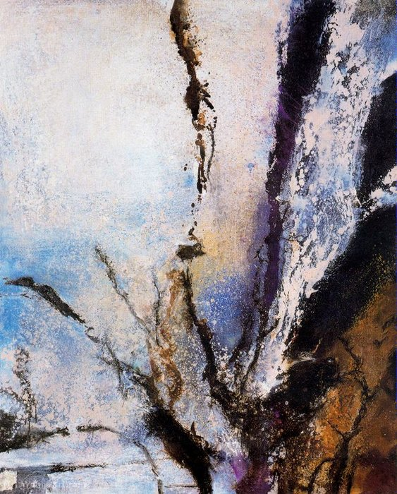 Untitled (921) by Zao Wou-Ki (1920-2013, China) |  | ArtsDot.com