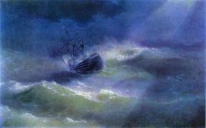 Ivan Konstantinovich Aivazovsky - The Mary Caught in a Storm