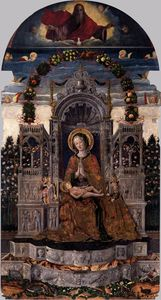Antonio Da Negroponte - Madonna and Child Enthroned