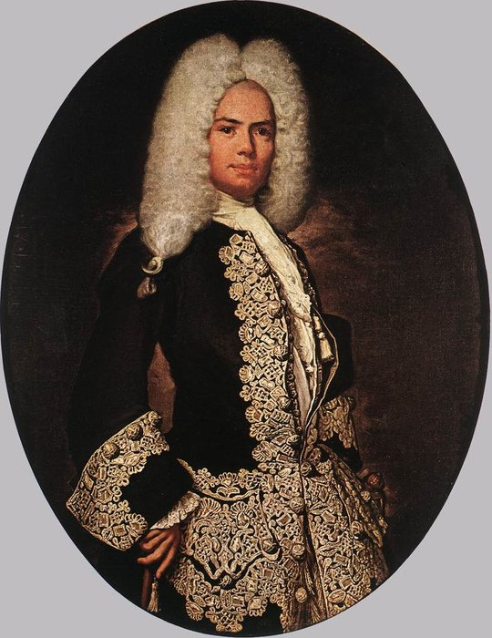 Portrait of a Gentleman by Vittore Ghislandi (1655-1743)