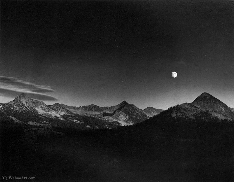 Autumn moon by Ansel Adams (1902-1984, United States)