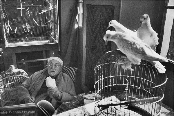 Matisse 1944 by Henri Cartier-Bresson (1908-2004, France)