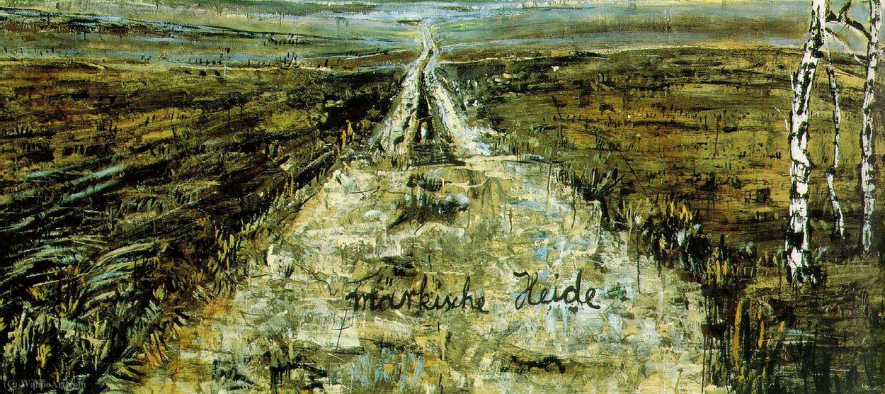 March heath, (260 Kb)_ Oil, acrylic, and shellac (1974) by Anselm Kiefer