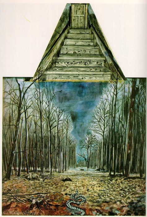 Resurrexit, (200 Kb)_ Oil, acrylic, and charcoal (1973) by Anselm Kiefer