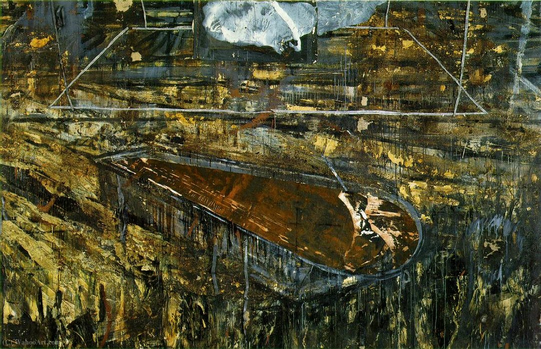 The red sea, (240 Kb)_ Oil, emulsion, and she (1985) by Anselm Kiefer