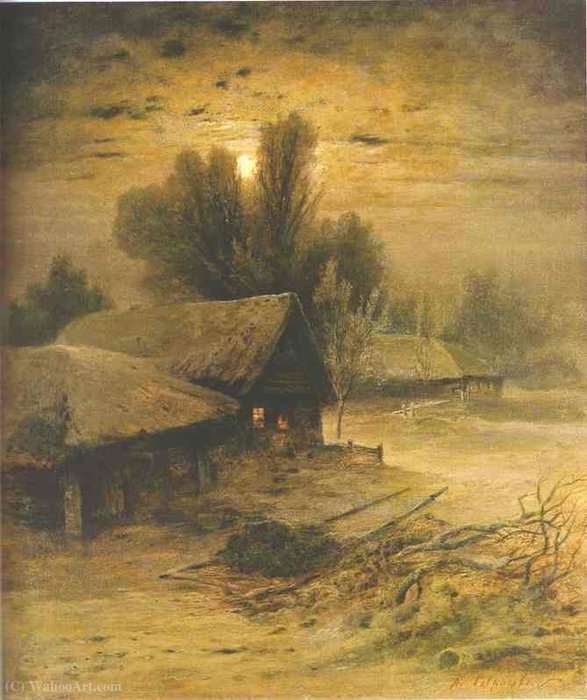 Winter night by Alexey Savrasov
