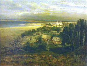 Alexey Savrasov - Monastery of Caves near Nizhny..