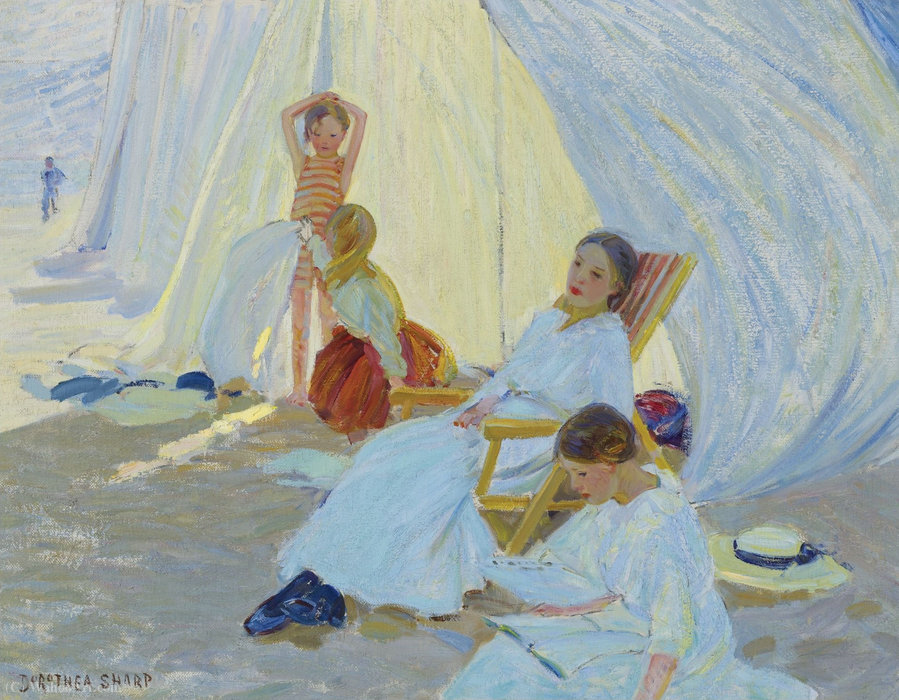 A Day at the Sea by Dorothea Sharp (1874-1955, United Kingdom) |  | ArtsDot.com