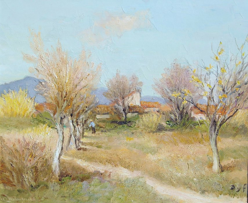 An Orchard in Spring by Marcel Dyf (1899-1985, France) | Oil Painting | ArtsDot.com