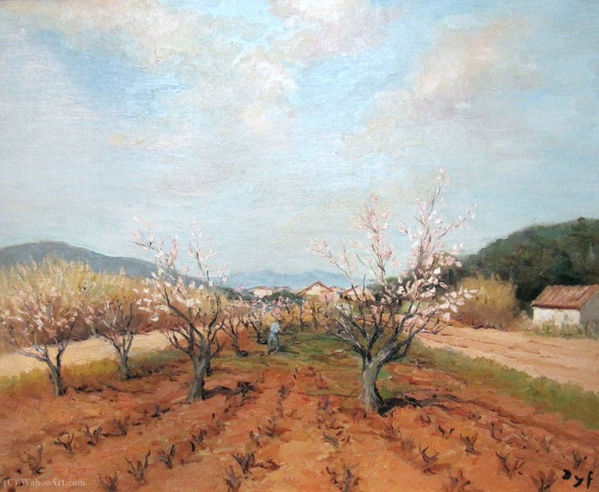 An orchard by Marcel Dyf (1899-1985, France)