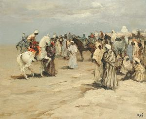 Marcel Dyf - Arabian Riders at Taroudant, (1955)
