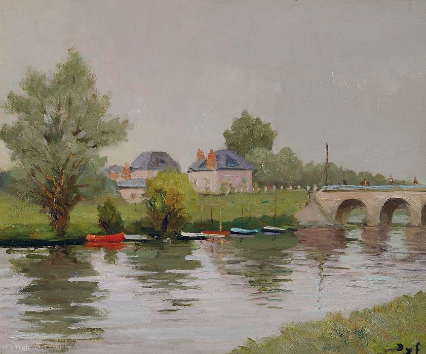 Bank of the River near Nantes by Marcel Dyf (1899-1985, France)