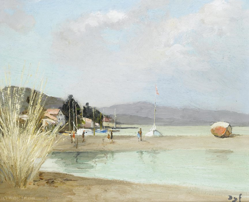 Beach at Provence, (1975) by Marcel Dyf (1899-1985, France) | Museum Quality Reproductions | ArtsDot.com