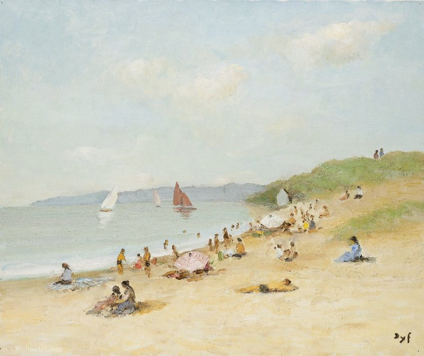 Beach of Kerjouano, (1978) by Marcel Dyf (1899-1985, France) | Painting Copy | ArtsDot.com