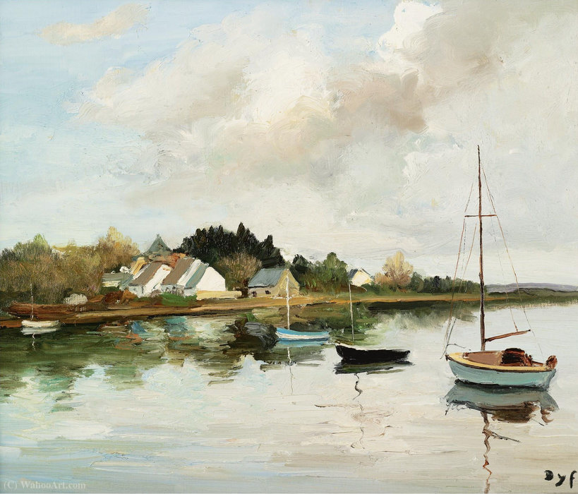 Corner Point at Brillac, (1980) by Marcel Dyf (1899-1985, France) | Museum Art Reproductions | ArtsDot.com