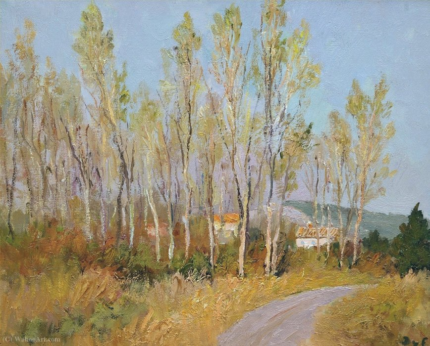 Countryside in Provence by Marcel Dyf (1899-1985, France)