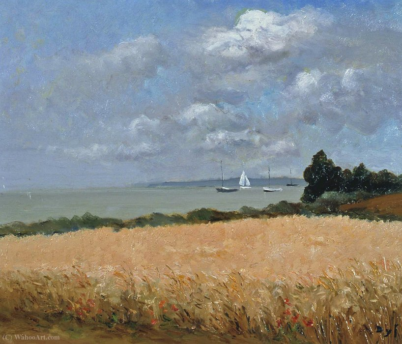 Field of Wheat in Brittany by Marcel Dyf (1899-1985, France)