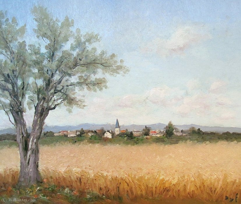 Fields of Wheat at Saules by Marcel Dyf (1899-1985, France) | Painting Copy | ArtsDot.com