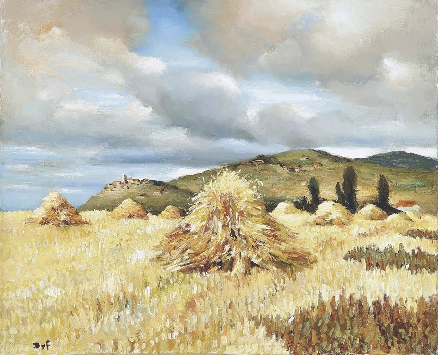 Haystacks by Marcel Dyf (1899-1985, France) | Painting Copy | ArtsDot.com