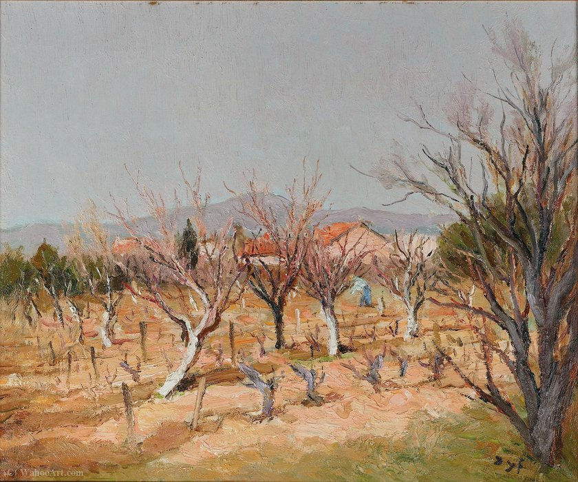 Landscape with Vines by Marcel Dyf (1899-1985, France) | Museum Art Reproductions | ArtsDot.com