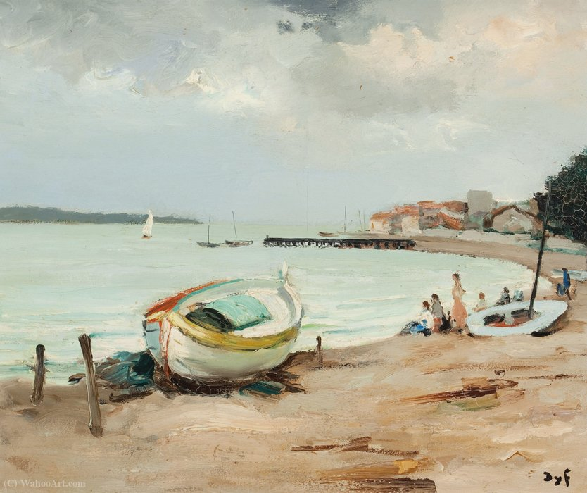 Mediterranean coast by Marcel Dyf (1899-1985, France) | Art Reproduction | ArtsDot.com