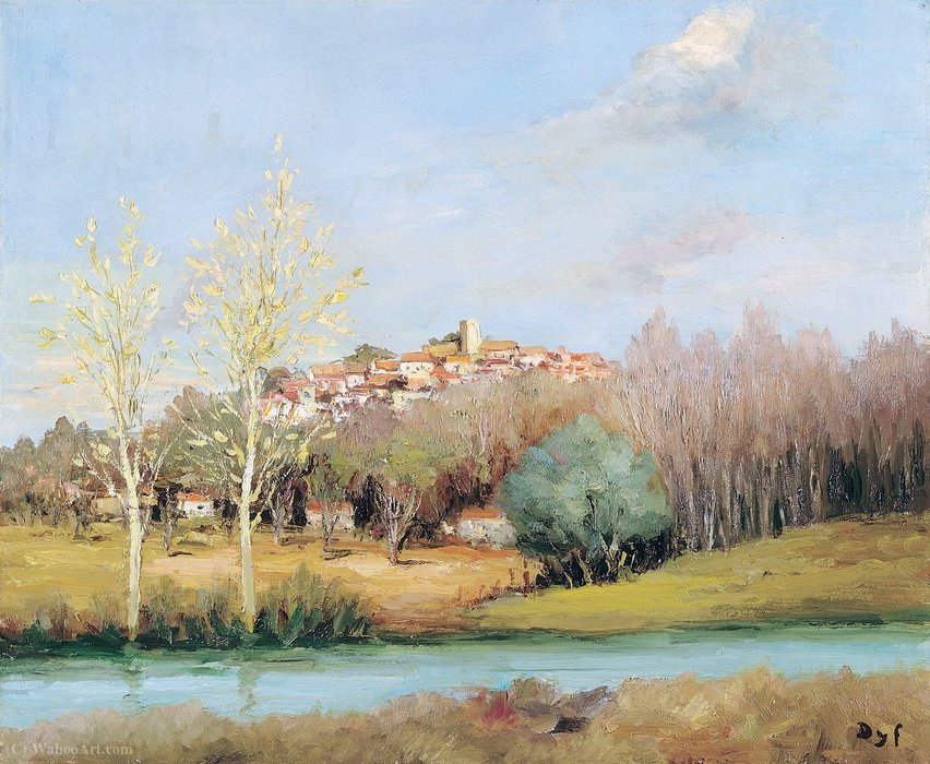 Neauphle le Chateau by Marcel Dyf (1899-1985, France)