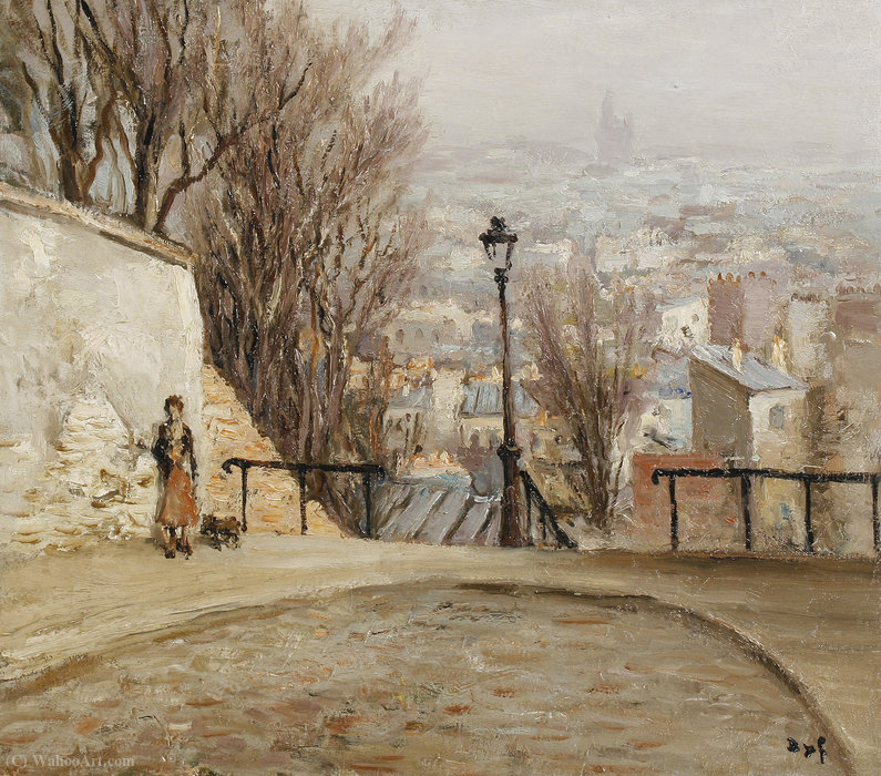 Over the City by Marcel Dyf (1899-1985, France)