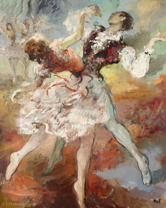Pair of Dancers by Marcel Dyf (1899-1985, France)