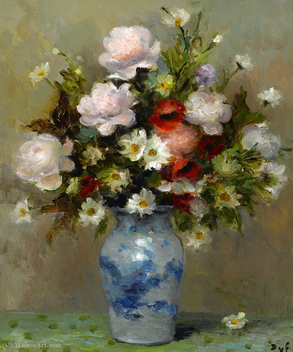 Peonies and Papavers by Marcel Dyf (1899-1985, France) | Painting Copy | ArtsDot.com
