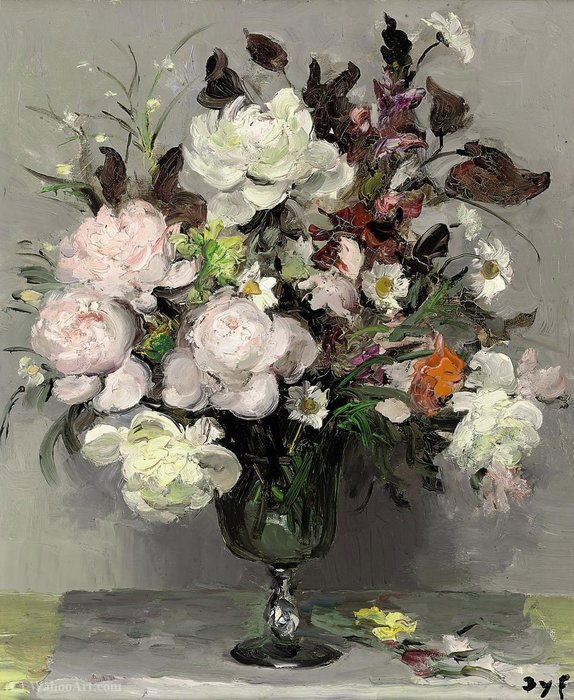 Peonies by Marcel Dyf (1899-1985, France) | Art Reproduction | ArtsDot.com