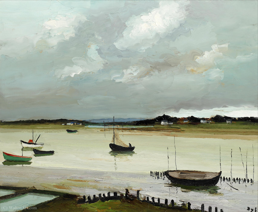Stormy day, port navalo by Marcel Dyf (1899-1985, France)