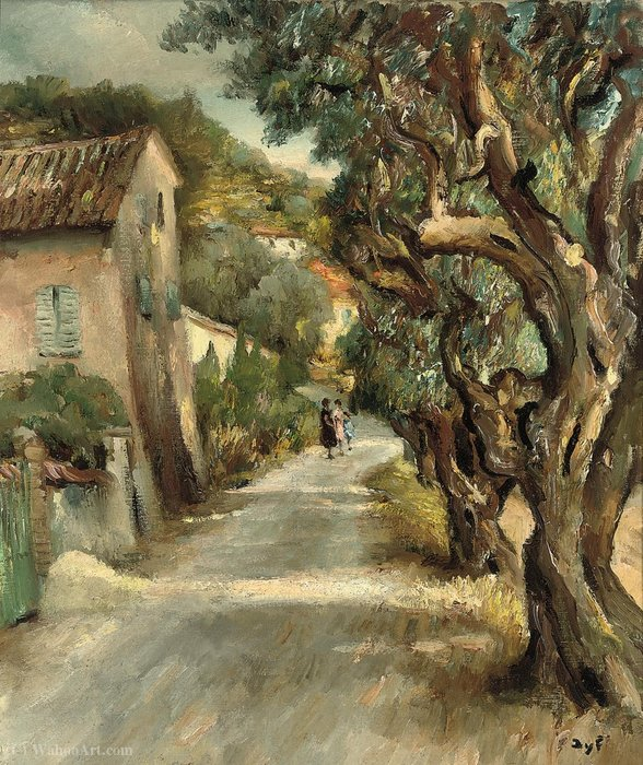 Strolling in Provence, (1950) by Marcel Dyf (1899-1985, France) | Oil Painting | ArtsDot.com