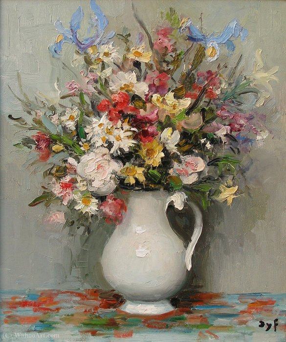 Summer flowers by Marcel Dyf (1899-1985, France)