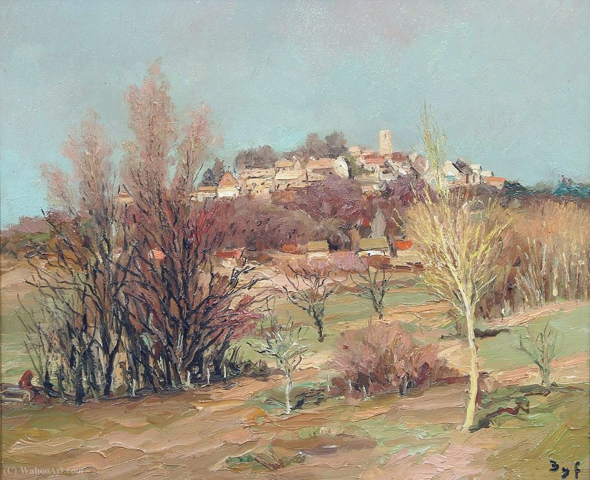 The Castle of Neauphle, near Bois d'Arcy by Marcel Dyf (1899-1985, France)