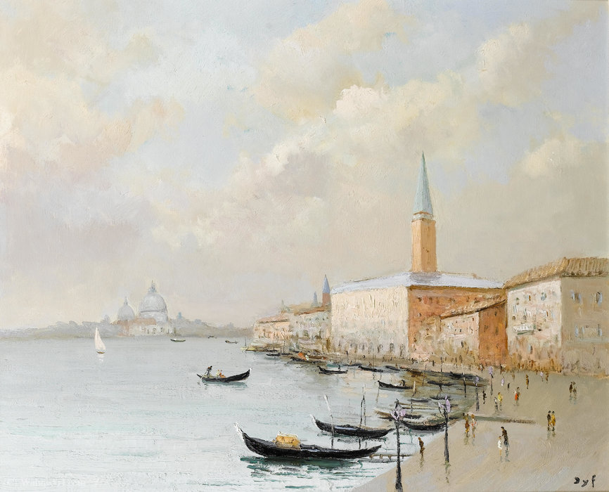 The Doges Palace at Venice by Marcel Dyf (1899-1985, France)