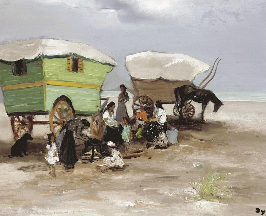 The encampment, (1965) by Marcel Dyf (1899-1985, France) | Museum Quality Reproductions | ArtsDot.com