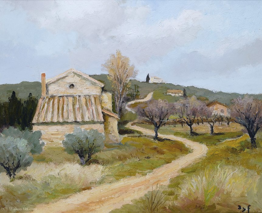 The Farm of Voie by Marcel Dyf (1899-1985, France)