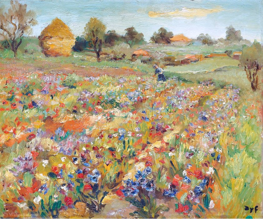 The Field of Poppies by Marcel Dyf (1899-1985, France)