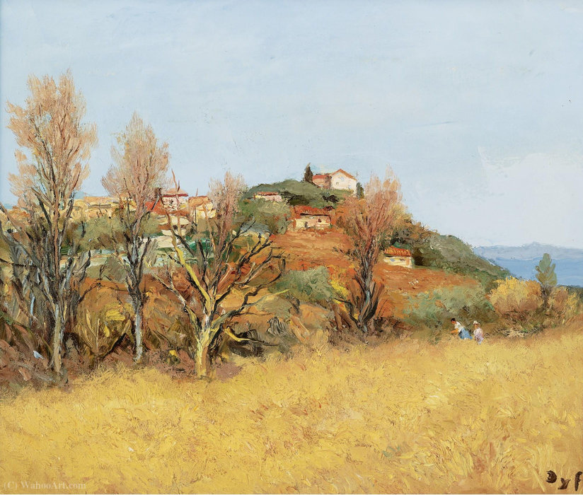 The Hill of Gaude, (1975) by Marcel Dyf (1899-1985, France)