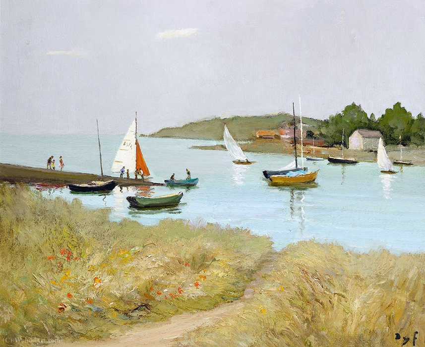 The passage st. armel by Marcel Dyf (1899-1985, France) | Museum Art Reproductions | ArtsDot.com