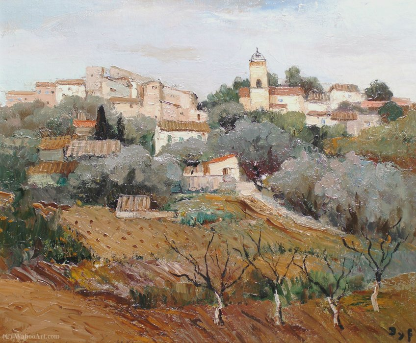 Village in Provence by Marcel Dyf (1899-1985, France)